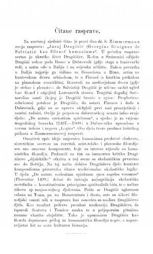 Juraj Dragišić (Georgius Benignus de Salviatis) kao filozof humanizma : [izvod iz rasprave] / S. Zimmermann