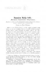 Humanista Matija Grbić : (Mathias Garbitius Illyricus.) / Đ. Körbler