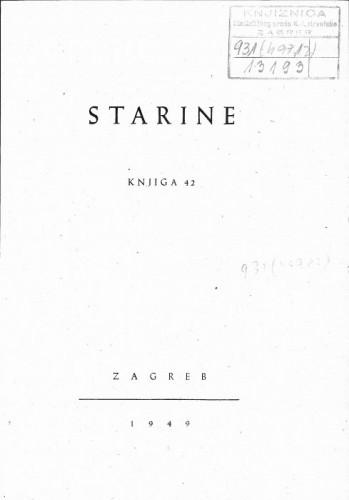 Knj. 42(1949) / uredili Marko Kostrenčić i Josip Badalić