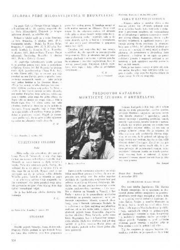 Predgovor katalogu Murtićeve izložbe u Bruxellesu : Dokumentacija o izložbama naših umjetnika u inostranstvu