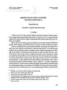 Besjedovni stih u poeziji Slavka Mihalića / Nada Radovčić