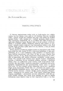 Nosna polipoza / Z. Krajina