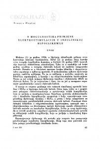O mogućnostima primjene elektrostimulacije u inzulinskoj hipoglikemiji / N. Peršić