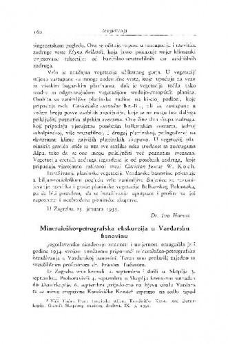 Mineraloško-petrografska ekskurzija u Vardarsku banovinu / M. Tajder i Lj. Barić