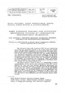 Some Yugoslav natural and activated bentonites studied by comparative spetroscopic techniques / H. Bilinski, V. Nöthig-Laslo, Danica Hanžel, Darko Hanžel, Lj. Beqiri