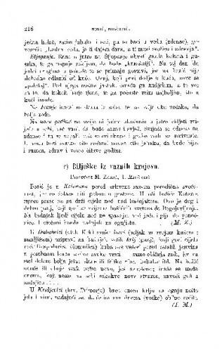 Bilješke iz raznih krajeva : božićni blagdani / M. Zorić, I. Milčetić