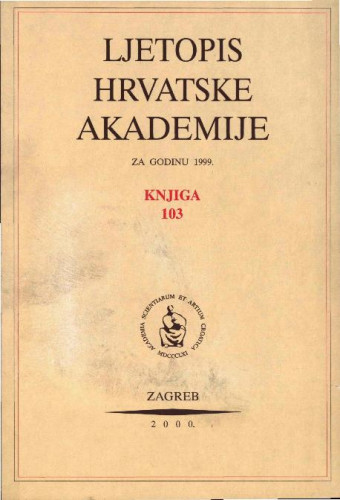 1999. Knj. 103 / urednik Andrija Kaštelan