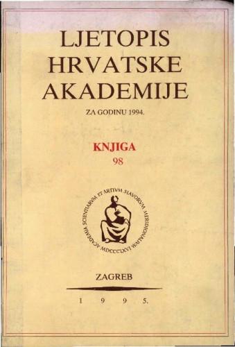 1994. Knj. 98 / urednik Milan Moguš