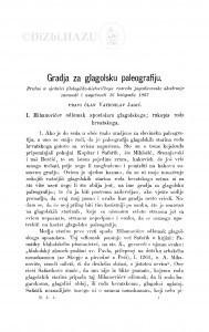 Gradja za glagolsku paleografiju / V. Jagić