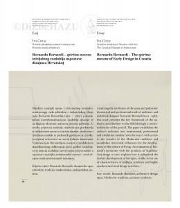 Bernardo Bernardi - spiritus movens inicijalnog razdoblja uspostave dizajna u Hrvatskoj : Bernardo Bernardi - the spiritus movens of early design in Croatia / Iva Ceraj