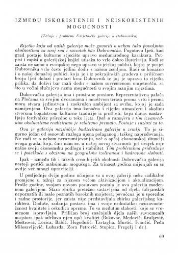 Između iskorištenih i neiskorištenih mogućnosti / Josip Vrančić