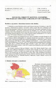 Sociálno-cirkevný kontext, z ktorého prichádzajú uršulínky z Bratislavy do Varaždina