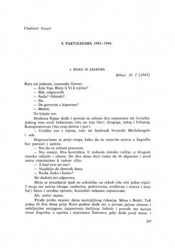 S partizanima 1943-1944 / V. Nazor