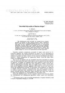 Steroidal glycosides of marine origin / L. Minale, R. Riccio