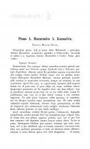 Pismo A. Mažuranića A. Kaznačiću / Milivoj Šrepel