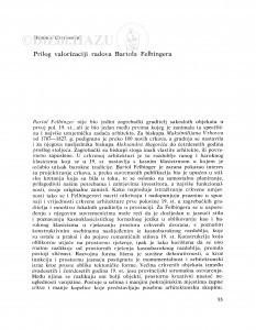 Prilog valorizaciji radova Bartola Felbingera / Đurđica Cvitanović