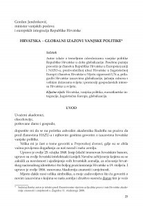 Hrvatska - Globalni izazovi vanjske politike / Gordan Jandroković