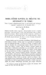 Borba Južnih Slovena za državnu neodvisnost u XI vieku / F. Rački