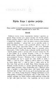 Rijeka Kupa i njezino porječje / M. Šenoa