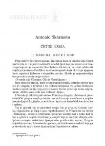 Četiri eseja / Antonio Skármeta ;  prevela sa španjolskoga Željka Lovrenčić