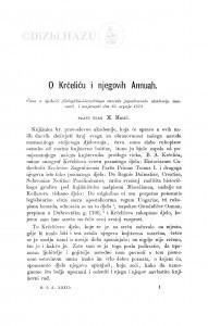 O Krčeliću i njegovih Annuah / M. Mesić