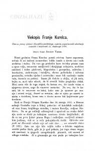 Viekopis Franje Kurelca / A. Veber