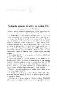 Šesnaesto potresno izvješće: za godinu 1898 / M. Kišpatić