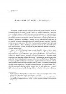 Drame Mire Gavrana u inozemstvu / Lucija Ljubić