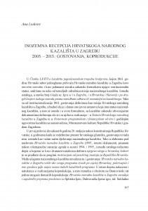 Inozemna recepcija Hrvatskog narodnog kazališta u Zagrebu 2005.-2013. : gostovanja, koprodukcije / Ana Lederer