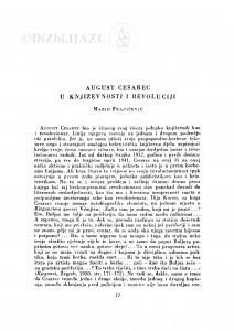 August Cesarec u književnosti i revoluciji / M. Franičević