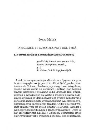 Fragmenti iz Meudona i Santhià / Ivan Molek