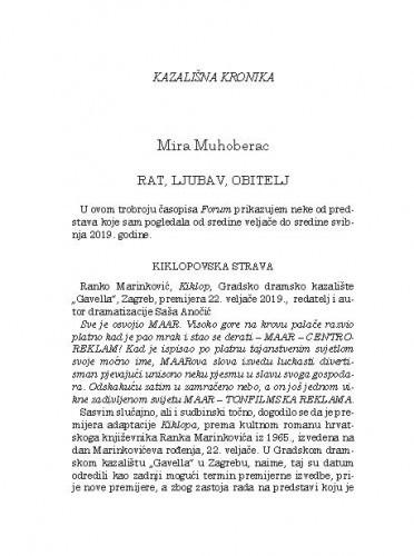Kazališna kronikaMira Muhoberac