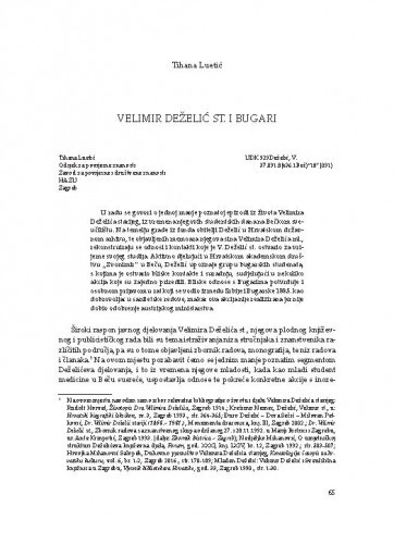 Velimir Deželić st. i Bugari / Tihana Luetić