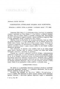 Dominantna sterilnost polena kod kukuruza / A. Tavčar