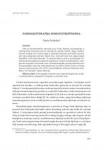 Farmakoterapija somatotropinoma / Darko Kaštelan