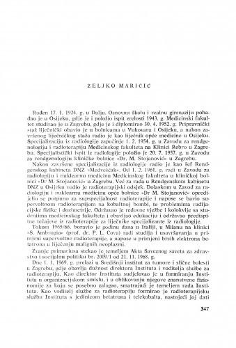 Željko Maričić : [biografije novih članova Akademije]