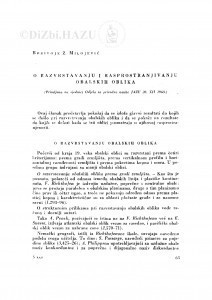 O razvrstavanju i rasprostranjenju obalskih oblika / B. Ž. Milojević