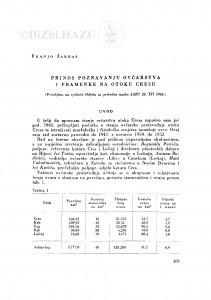 Prilog poznavanju ovčarstva i pramenke na otoku Cresu / F. Jardas