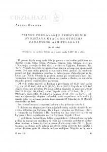 Prinos poznavanju proizvodnih svojstava ovaca na otocima Zadarskog arhipelaga II / A. Ogrizek