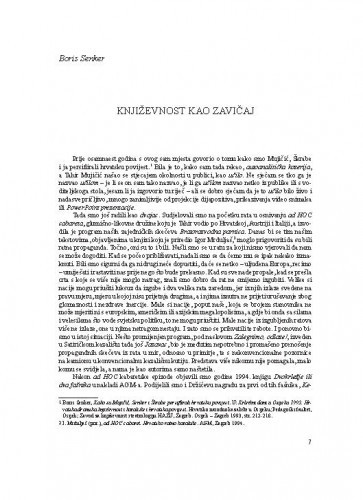Književnost kao zavičaj / Boris Senker