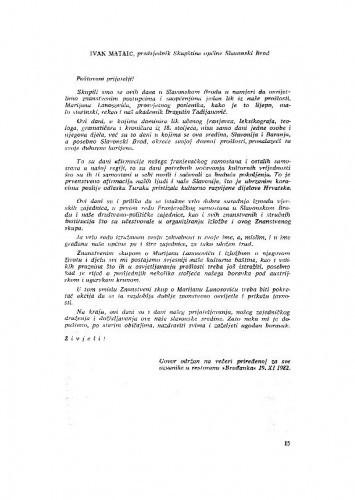 Govor Ivana Mataića, predsjednika Skupštine općine Slavonski Brod