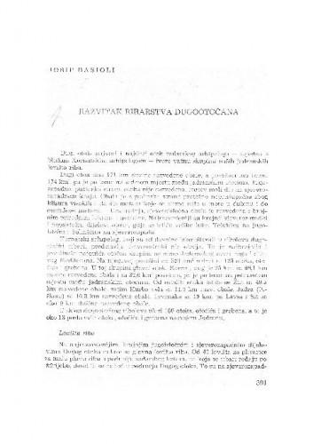 Razvitak ribarstva Dugootočana / Josip Basioli