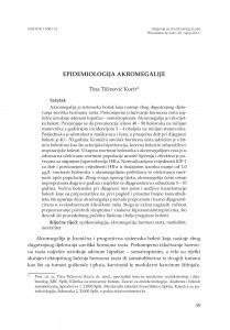 Epidemiologija akromegalije / Tina Tičinović Kurir