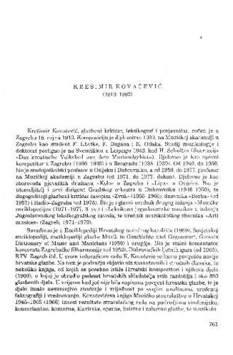 Krešimir Kovačević (1913-1992) / Ivan Supičić