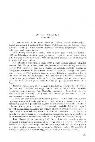 Otto Kratky (1902.-1995.) / Boris Kamenar