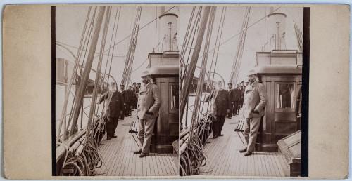 Izidor Kršnjavi na palubi školskog broda Margita