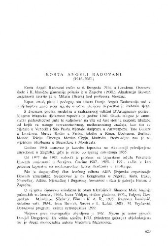 Kosta Angeli Radovani (1916.-2002.) : [in memoriam] / Marija Ujević-Galetović