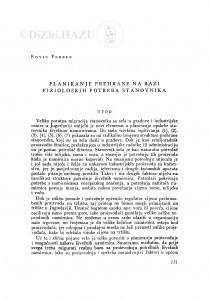 Planiranje prehrane na bazi fizioloških potreba stanovnika / E. Ferber