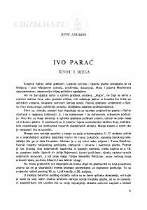 Ivo Parać : život i djela / J. Andreis