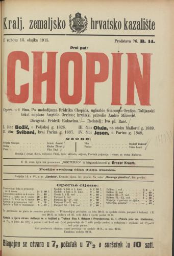 Chopin : Opera u 4 čina